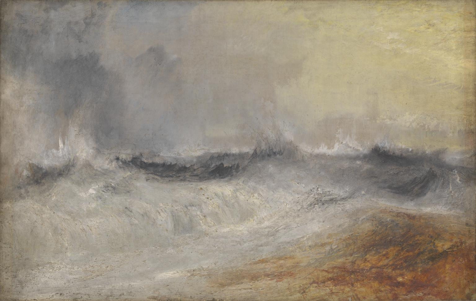 Waves Breaking against the Wind c.1840 by Joseph Mallord William Turner 1775-1851