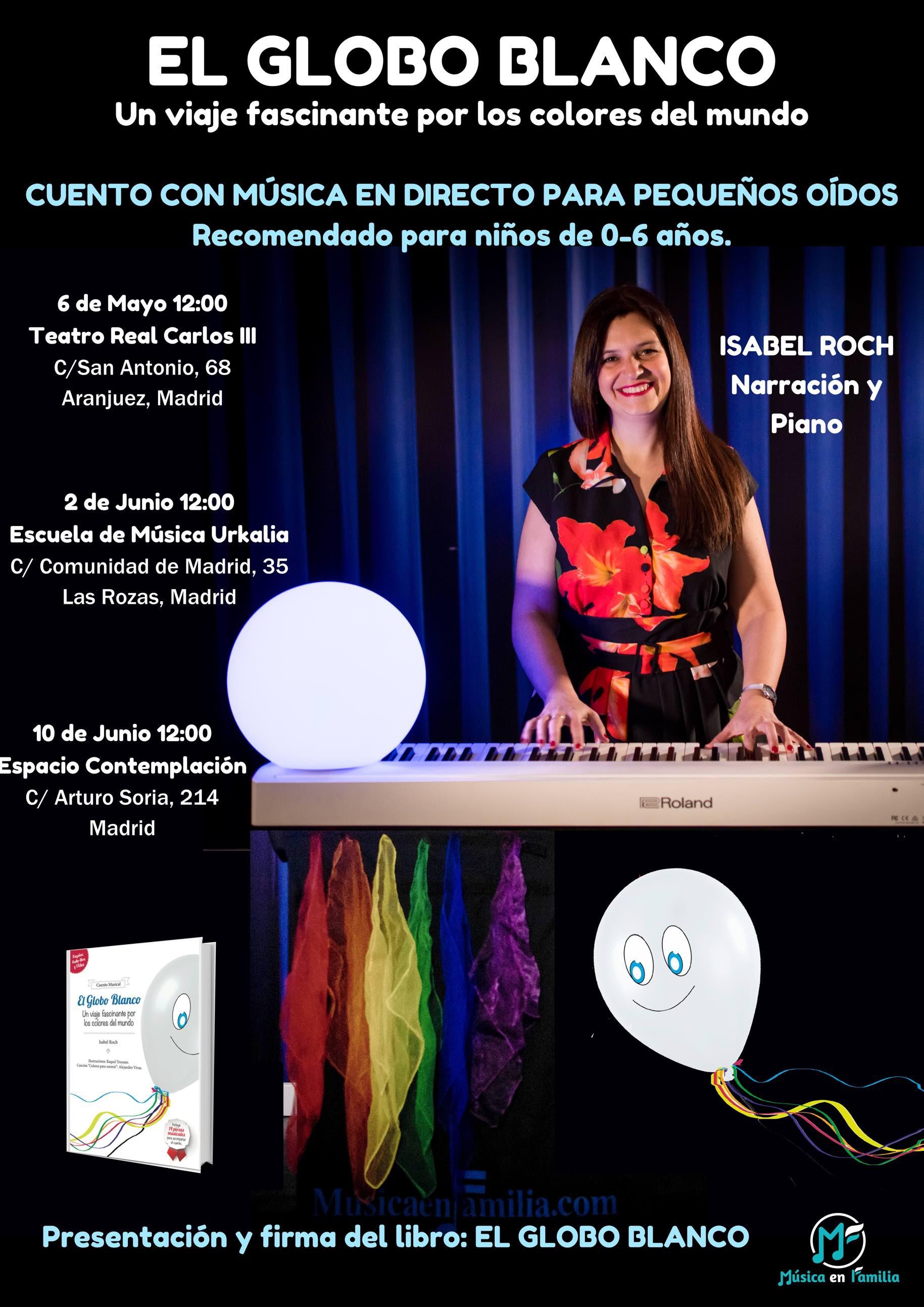 cartel globo blanco teatro real aranjuez