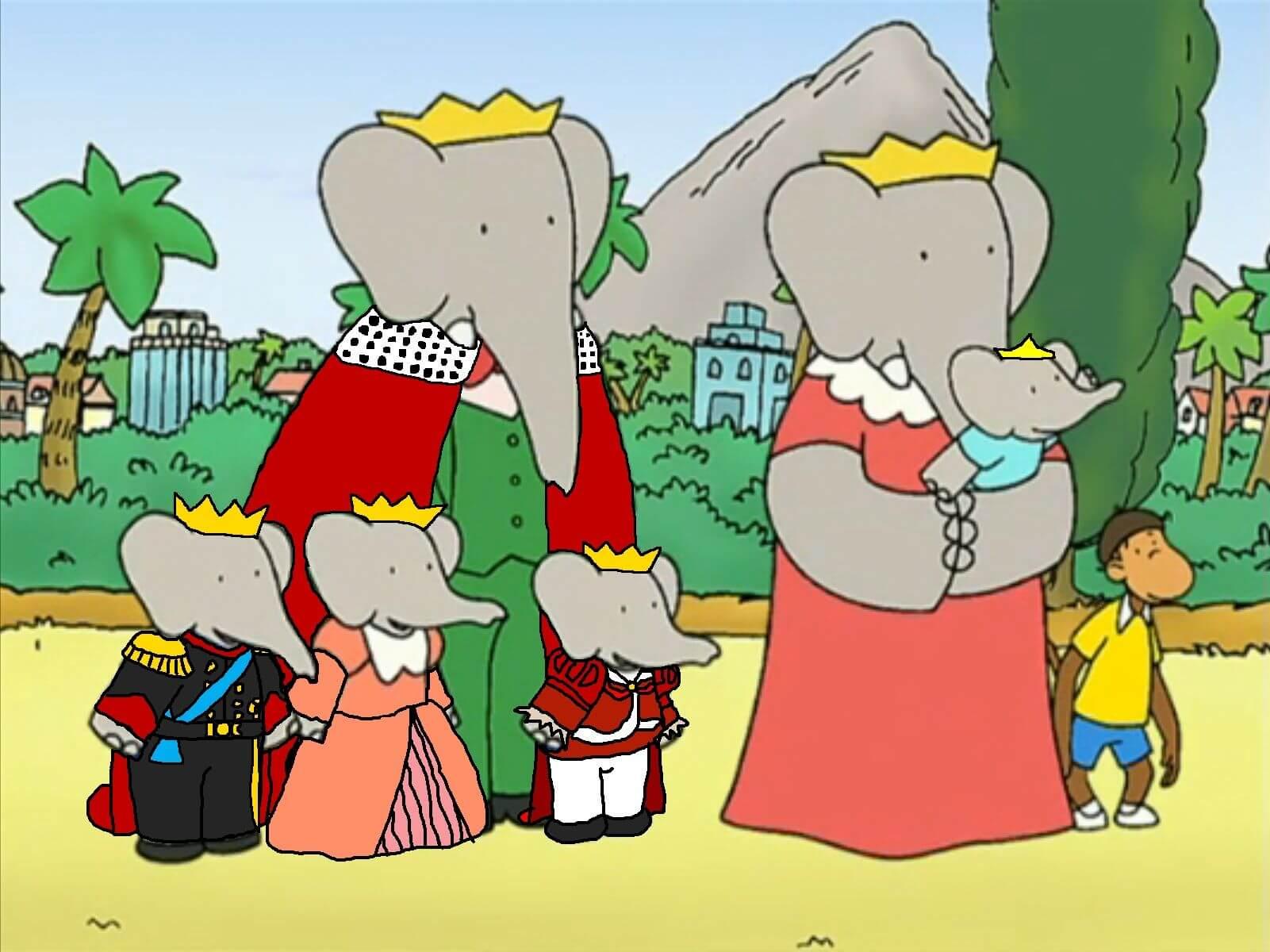 babar-elefante-familia-dibujo-animado