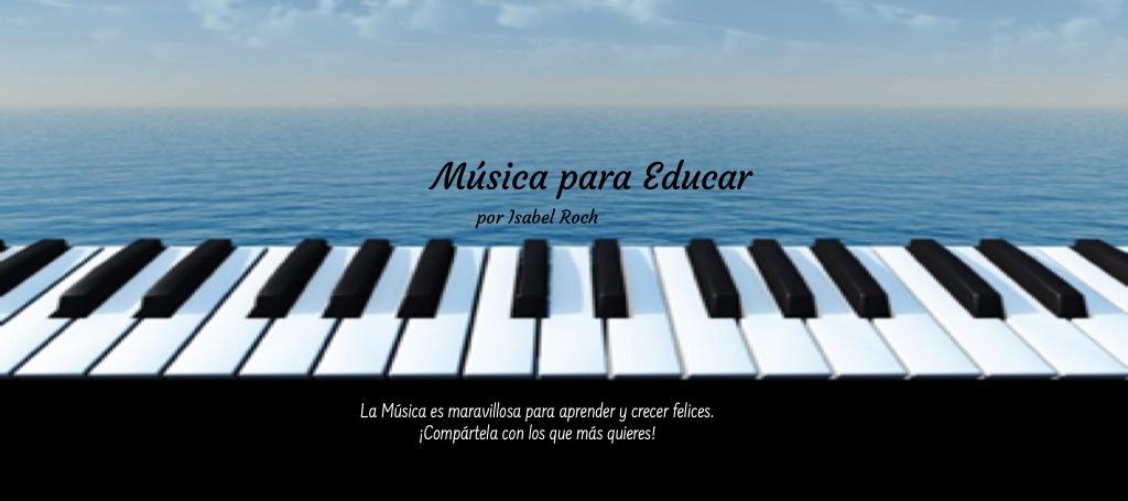 Cabecera página web música para educar